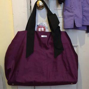 Large kate spade purple handbag